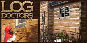 Log Cabin Staining Log Cabin Staining